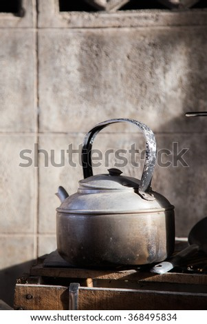 kettle boiling - stock photo