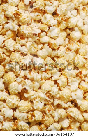 Kettle corn up close and full frame as a background. - stock photo