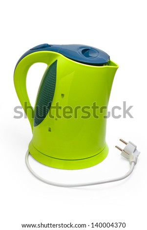 kettle electric isolated utensils appliance kitchen asian hot design teapot camping boiling water boil - stock photo