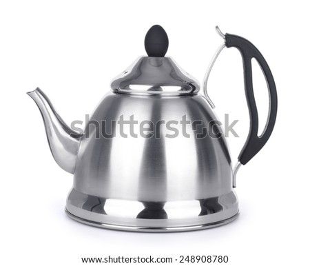 kettle isolated on white background - stock photo