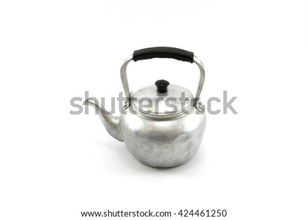 kettle on white background  - stock photo