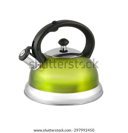 kettle to boil with a whistle isolated on white background