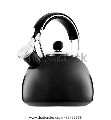 Kettle with whistle isolated on white background
