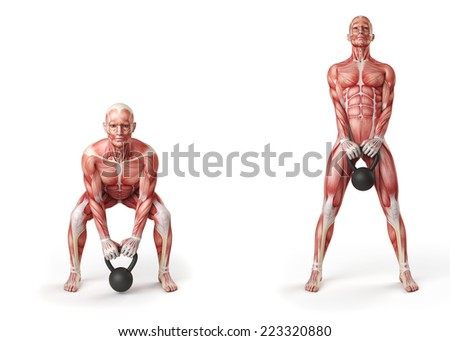 kettlebell exercise - dead lift