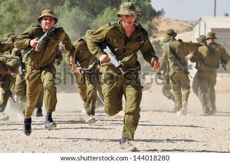 KETZIOT - NOV 24:IDF recruitment on Nov 24 2010.The number of wars and conflicts in which the IDF was involved in its short history makes it one of the most battle-trained armed forces in the world. - stock photo