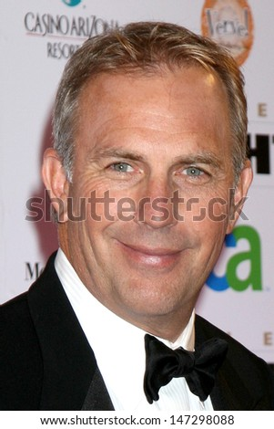 Kevin Costner & Wife Christine Fight Night XIV JW Marriott Resort Phoenix, AZ April 5, - stock photo