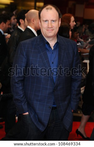 "Kevin Feige arrives for the ""Avengers Assemble"" premiere at the Vue cinema Westfield, London. 19/04/2012 Picture by: Steve Vas / Featureflash"