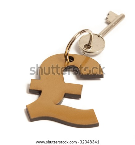 KEY and dollar sign - stock photo