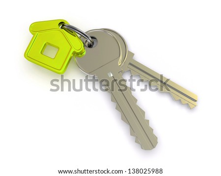 key and home. 3d