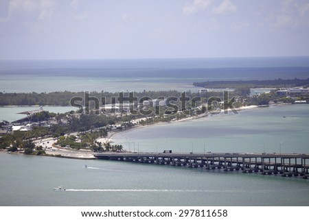 Key Biscayne Florida - stock photo