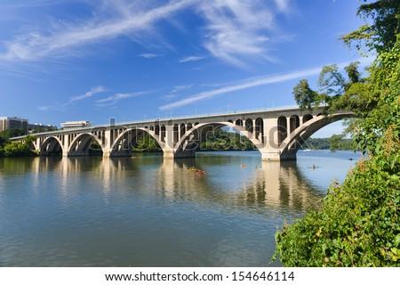 Key Bridge - Washington DC, United States - stock photo
