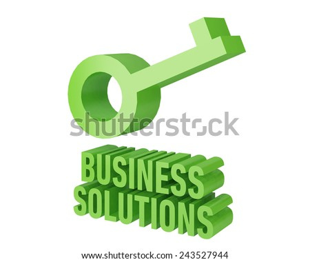 key Business Solution - stock photo