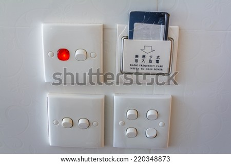 Key Card And Light Switch