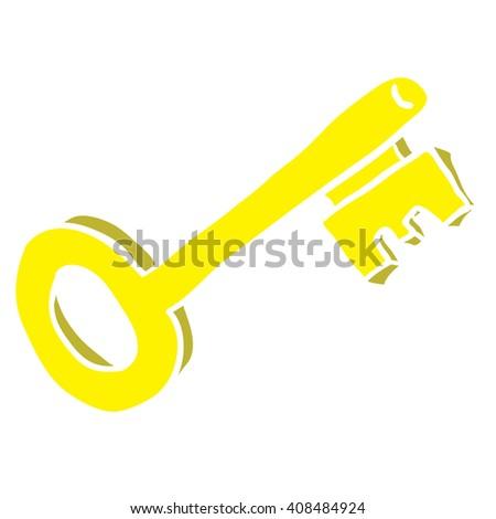 key cartoon - stock photo