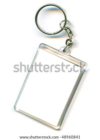 key chain as a frame with space for text or illustrations