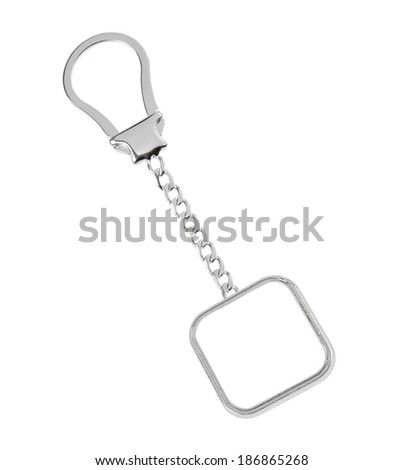 key chain with space for text isolated on white background