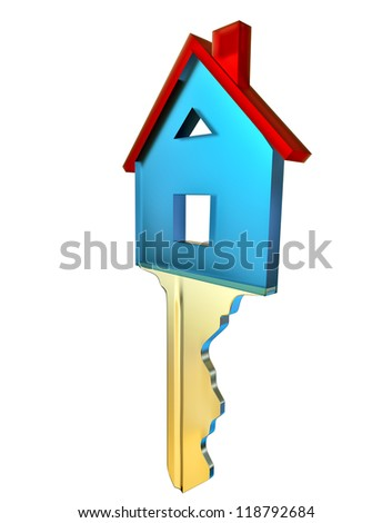 key for a new home as a symbol of purchases and investments