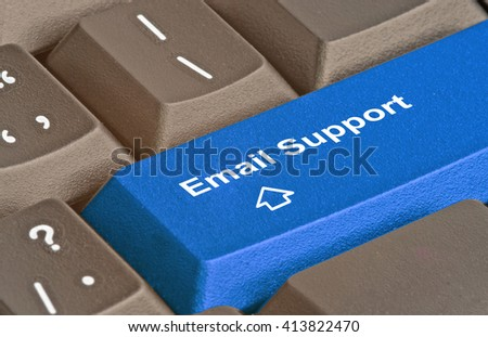 key for e-mail support - stock photo