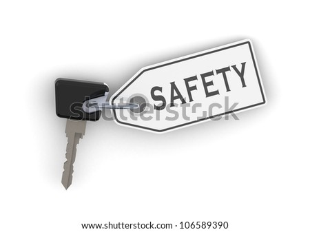 Key for safety - stock photo