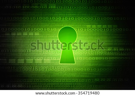 key hole abstract background