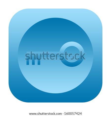 Key icon - stock photo