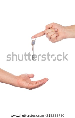 key in hand, raised up