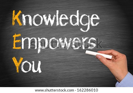 KEY - Knowledge Empowers You - stock photo