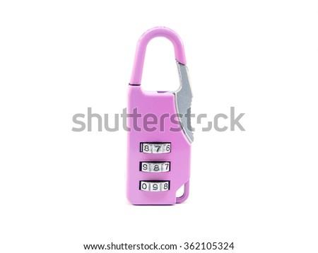 key lock by password - stock photo
