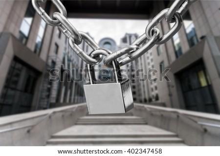 Key lock locked. - stock photo