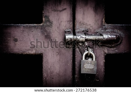 Key locked - stock photo