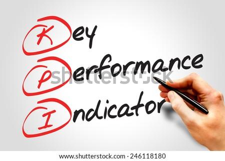 Key performance indicator (kpi), business concept acronym - stock photo