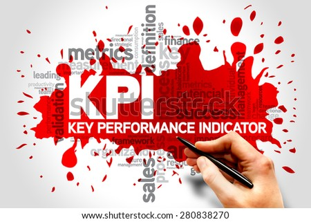 Key Performance Indicators word collage, KPI Business Concept - stock photo