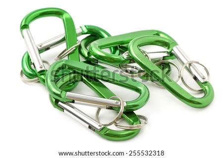 key ring isolated on white background - stock photo