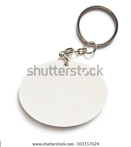 Key ring on white background - stock photo