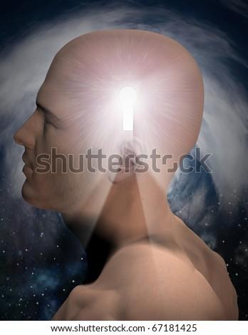 Key to mind - stock photo