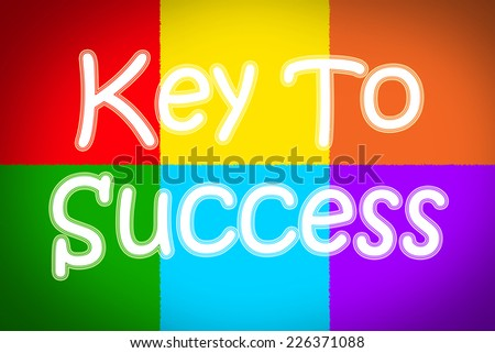 Key to success Concept text on background