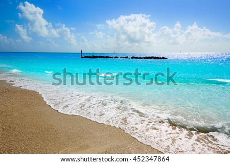 Key West beach Fort Zachary Taylor Park in Florida USA - stock photo