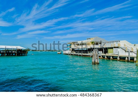 KEY WEST, FLORIDA -DECEMBER 31, 2012 -  An oceanside view of the beautiful Southernmost on the Beach Resort