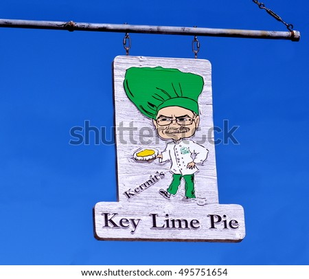 KEY WEST, FLORIDA-OCTOBER 9:  Kermit's Key Lime Pie Company, on Duval Street, in Old Town Key West, on October 9, 2016.
