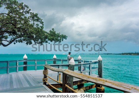 Fishing pier stock images royalty free images vectors for Key west fishing pier