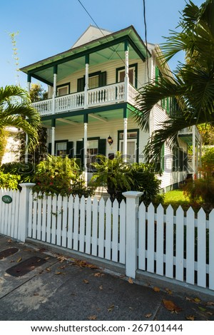 Old florida style stock photos images pictures for Key west style architecture