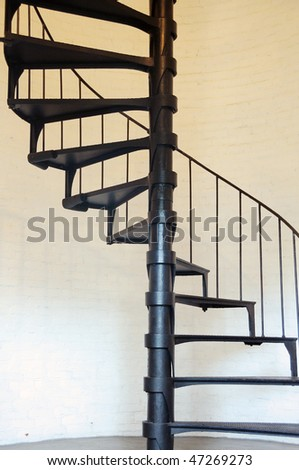 Key West Lighthouse Spiral Staircase - stock photo