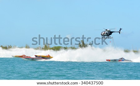 KEY WEST-NOVEMBER 13: Super Boats International World Offshore Powerboat Championships, November 13, 2015 in Key West, Florida.