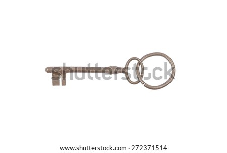 Key with ring - stock photo