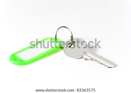 key with white background