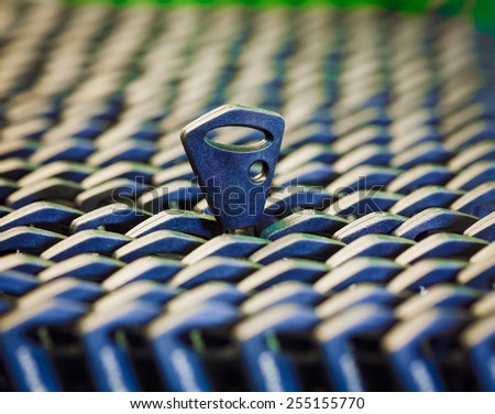 Key workshop for auto-lock. Security and encryption, concept image. - stock photo