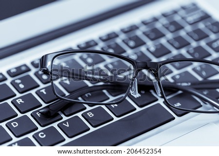 Keyboard and glasses