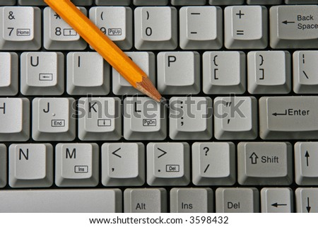 Keyboard and pencil