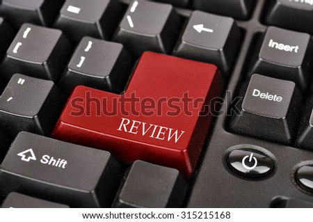 "Keyboard Button with Word ""REVIEW"""