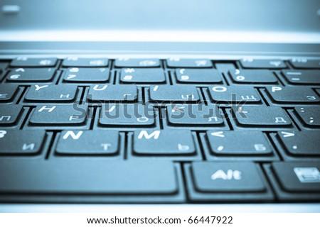 Keyboard closeup - stock photo